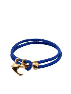 Blue Stingray With Gold Anchor | Nialaya Jewelry
