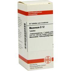 MEZEREUM D 12 Tabletten:   Packungsinhalt: 80 St Tabletten PZN: 02633927 Hersteller: DHU-Arzneimittel GmbH & Co. KG Preis: 5,95 EUR inkl.…