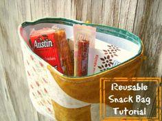 reusable snack bag tutorial / patchwork posse #tutorial #backtoschool #snackbag