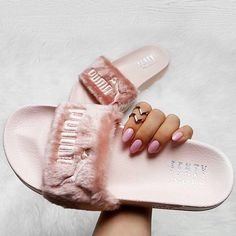 Rihanna takes PUMA slides from athletic to magic with fur