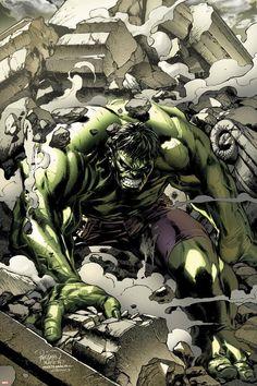 Incredible Hulks Cover: Hulk Smashing Marvel Comics Poster - 30 x 46 cm Comic Book Characters, Comic Book Heroes, Comic Character, Comic Books Art, Comic Art, Comic Pics, Dc Comics Art, Marvel Dc Comics, Hulk Marvel
