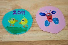 thumbprint art, spring arts and crafts,