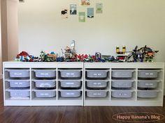 IKEAのトロファストで収納付きレゴテーブルを増設。収納ボックスを一工夫することで、レゴの収納がかなり快適に。詳しくはHPにて:http://happybanana.info/?p=2380
