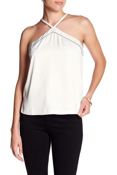 Marta Piped Halter Camisole by Cooper & Ella on @nordstrom_rack