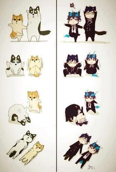 Blue exorcist! Yukio's face on the third pic XD this is adorable :3