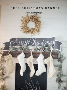 I have a great FREE printable banner for you as apart of this awesome Printable Tour put on by the lovely Kristen at the Ella Claire Blog. I actually used this same banner in my Christmas Man...