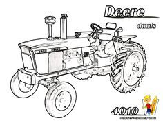 tractor coloring pages for kids printable print picture deere tractor 4010 at coloring pages - Tractor Coloring Pages