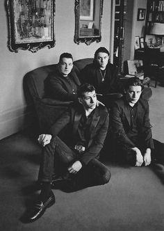 I like this pose because it again looks professional but it's not blatant because the band just look like friends round someones house.
