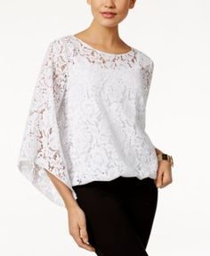 Alfani Lace Blouson Top, Only at Macy's | macys.com
