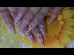 TUTORIAL: Diseño De Uñas Primaveral y 3D en colores Neon ❀ - YouTube