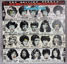 """ROLLING STONES 1978 Some Girls 12"""" Vinyl 33 LP Beast Of Burden ATLANTIC ROCK #BluesRock"""