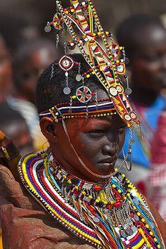 Africa | Young Masai bride.  Kenya | © Darrel Gulin
