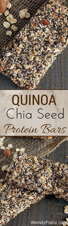 Quinoa Chia Seed Protein Bars - These Quinoa Chia Seed Protein Bars make the per.,Healthy, Many of these healthy H E A L T H Y . Quinoa Chia Seed Protein Bars - These Quinoa Chia Seed Protein Bars make the perfect healthy snack. This gluten . Gluten Free Protein Bars, Protein Bar Recipes, Snack Recipes, Healthy Recipes, Chia Seed Recipes Vegan, Syrup Recipes, Chia Seed Muffin Recipes, Chia Seed Bars Recipe, Yummy Snacks