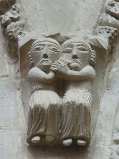 Romanesque Art, Normandy, Cathedrals, Art Boards, Lion Sculpture, France, Statue, Architecture, Beautiful