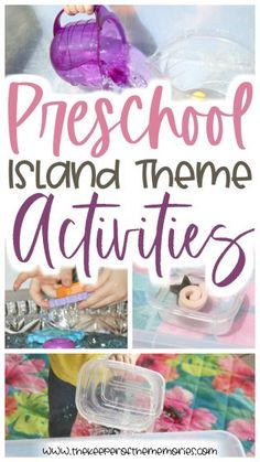 If you're a preschool teacher or homeschool mama who is excited about planning the perfect preschool island theme, then look no further! This post is full of quick Sensory Activities Toddlers, Preschool Themes, Kids Learning Activities, Toddler Preschool, Diy Crafts For Kids Easy, Craft Projects For Kids, Diy Projects, Toddler Themes, Island Theme