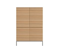 Ethnicraft© - Products » Cupboards »Oak Stonecut storage cupboard - 4 opening doors