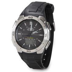 The Always Accurate Watch (Black Strap) - Hammacher Schlemmer
