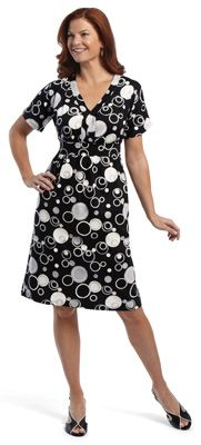 Tanya Black & White Circles Dress just not the shoes