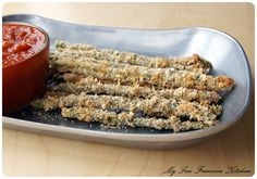 Baked Asparagus Fries - healthy & fun appetizer or snack!