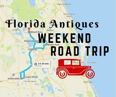 This awesome road trip will take you to some of Florida's best antique stores and restaurants plus a relaxing B&B, all in one awesome weekend. Road Trip Florida, Visit Florida, Florida Vacation, Florida Travel, Vacation Trips, Vacation Spots, Day Trips, Vacation Ideas, Vacations