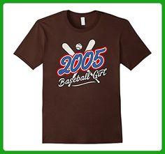 Mens 2005 Baseball Girl 12th Birthday Gift 12 Years Old T-Shirt Medium Brown - Birthday shirts (*Amazon Partner-Link)