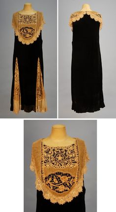 Velvet and Lace Tea Gown by Sadie Nemser, Late 1920s