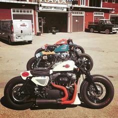 18.3K vind-ik-leuks, 62 reacties - CAFE RACER caferacergram (@caferacergram) op Instagram: ' by CAFE RACER | TAG: #caferacergram | Three custom Harley-Davidson Sportsters by @federicomotors…' #harleydavidsoncaferacer