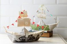 It's time to set sail for a classic crafting adventure with this easy-to-do paper boat… all aboard! Make A Paper Boat, Make A Boat, Build Your Own Boat, How To Make Paper, Boat Crafts, Diy And Crafts, Crafts For Kids, Paper Crafts, Diy Paper