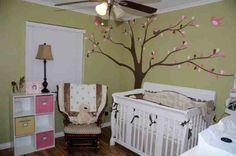 tree mural in a baby girl's nursery  http://www.creativemuralsofdallas.com/