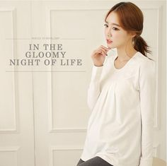 PW086 2015 new autumn and winter comfortable cotton long sleeved shirt maternity T shirts clothes for pregnant women