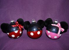 Hand painted Mickey and Minnie Mouse glass by SmilesFromDerek, $15.00