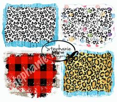 Grunge, Plaid And Leopard, Vinyl Quotes, Stock Image, Stock Art, Watercolor Design, Clips, Monogram Logo, Tiger