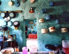 Bohemian Homes: Turquoise kitchen