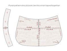 Free Fabric Handbag Patterns | update 9/25/12 : Be sure to download the pattern pieces to your ...