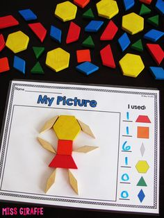 Composing Shapes is such a fun topic in first grade and kindergarten geometry! L… Composing Shapes is such a fun topic in first grade and kindergarten geometry! Learning how to compose and shapes is fun because, well… Preschool Math, Math Classroom, Kindergarten Activities, Fun Math, Kindergarten Shapes, Math Math, Classroom Ideas, Teaching Shapes, Math Fractions