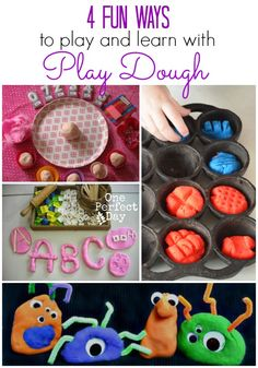 4 Ways to Play with Play Dough - One Perfect Day