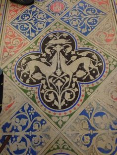 ingridjojohnson:  Floor at st chapelle Would look pretty as an embroidered motif or stencil design.