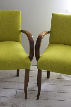 French Bridge Chairs covered in Alloy Kirby Design Fabric - by Kiki Voltaire.