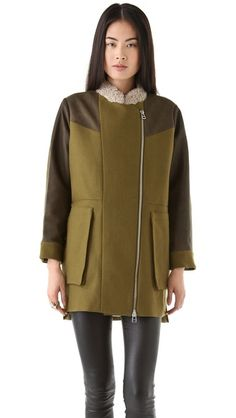 tba (to be adored) Petra Wool Coat. Yes, please.