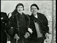 "linda and cole porter on a ski trip from the ""cole porter you're the top"""