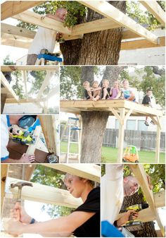 How to Build Your Own Treehouse, and let the kids help! // KristenDuke.com