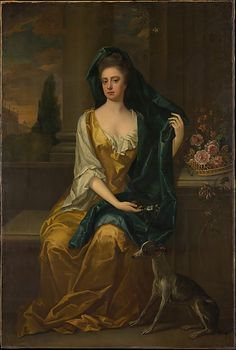 """""""Portrait of a Woman"""" by Michael Dahl (1700?) at the Metropolitan Museum of Art, New York"""