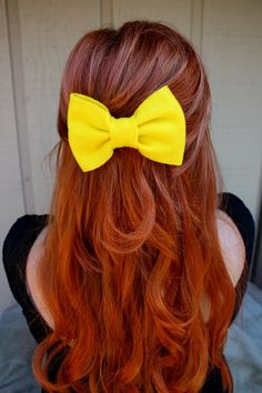 Cannot wait for long hair again...hello giant adorable bows :)