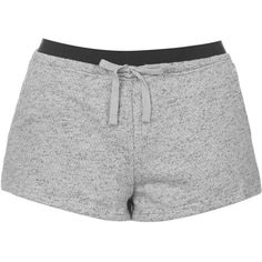 TOPSHOP Sporty Pajama Shorts ($30) ❤ liked on Polyvore featuring intimates, sleepwear, pajamas, shorts, bottoms, short, pijama, grey, short pajamas and pjs