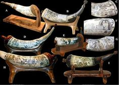"Scrimshaw Powder Horns: with my links to ""How To Build Your Own Powder Horn""…"