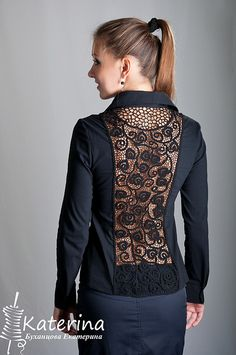 Diy Clothing, Sewing Clothes, Clothing Patterns, Form Crochet, Crochet Lace, Blouse Styles, Blouse Designs, Hijab Fashion, Couture Fashion