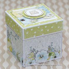 Cardmaking blog: 242. Exploding box ślubny