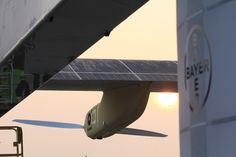 """The #Bayer Logo on the HB-SIA - Bayer #MaterialScience has been an official partner of the """"Solar Impulse"""" project since March 2010. Bayer MaterialScience is supporting the #Solar Impulse initiative with technical expertise, high-tech polymer materials and energy-saving lightweight products."""