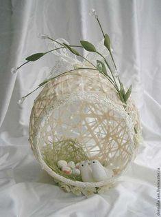 Pin by Ewa Mach on wielkanoc Spring Crafts, Holiday Crafts, Christmas Crafts, Christmas Decorations, Diy Crafts To Sell, Home Crafts, Balloon Crafts, Basket Crafts, Diy Ostern