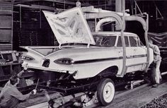 "REMEMBER LOTS OF THESE CARS     Takes you back to another time.  When Americans took real pride in their work.                      When ""Made in America"" really meant something  Old Car factory Photos"